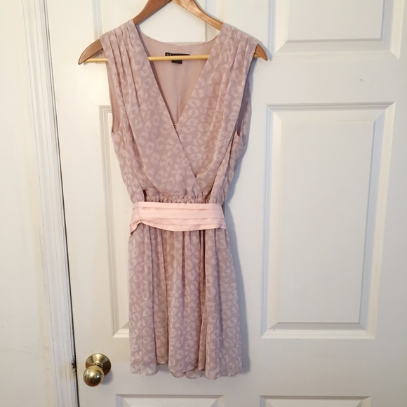 A/X Armani Exchange Dresses & Skirts - A/X Armani Exchange Dress Soft Pink Cheetah Print
